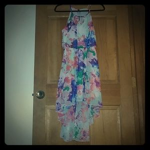 Pretty bright Floral Hi-low Dress M Lilly Rose